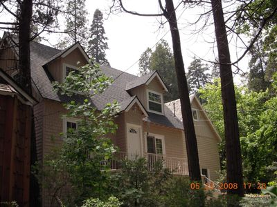 Side view of Lake Arrowhead vacation rental