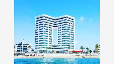 Photo for Beautiful condo with 180 degree view of ocean!