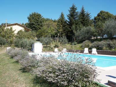 Photo for Villa of 120 m2 independent with large garden pool and tennis court.