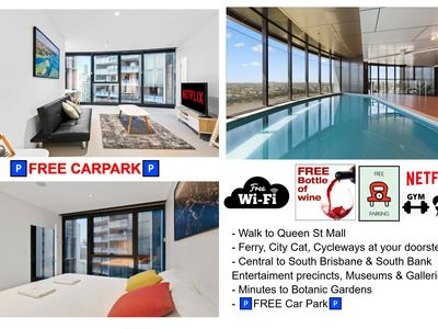 Photo for Up to 40% off BIG DISCOUNT!⭐CBD with🍷FREE Wine🅿️Free Carpark🎬Netflix & WiFi
