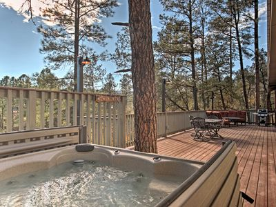 Photo for Exceptional Ruidoso Cabin w/ Hot Tub & Mtn Views!