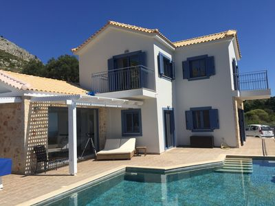 Photo for Villa Ambeli, panoramic sea views and infinity pool ideal family holiday venue