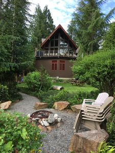 View of lodge from campfire area