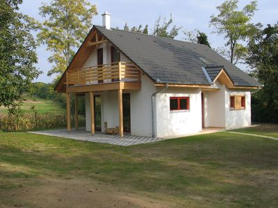 Photo for Comfortable modern villa with two bathrooms located on a small park with a view toward Lake Balaton.