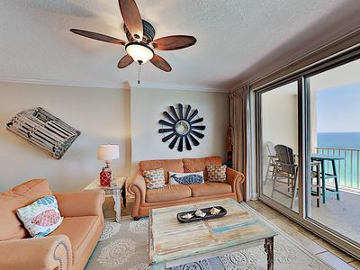 Photo for Updated Beachfront Getaway w/ Pools, Spa, Spacious Balcony - Steps to Sand