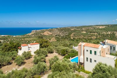 Aerial view of Villa Olive