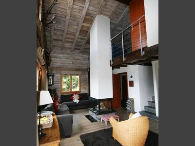 Photo for Cosy chalet with great views over the Rhone Valley