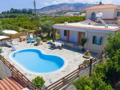 Photo for Villa Constantinos: Large Private Pool, Walk to Beach, Sea Views, A/C, WiFi, Car Not Required
