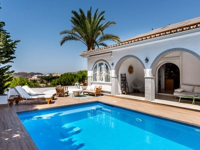 Photo for Luxurious Villa with Pool, Terraces, Stunning Sea Views, Wi-Fi; Street Parking Available