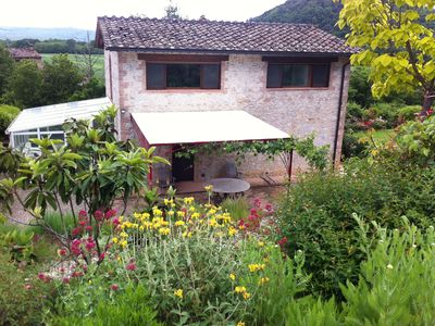 """Photo for Private Tuscan Country House with Large Garden in the Natural Park """"Alta Merse"""""""