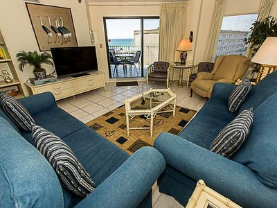 Photo for Nicely Decorated 2 BR - Sunset Views on the beach -