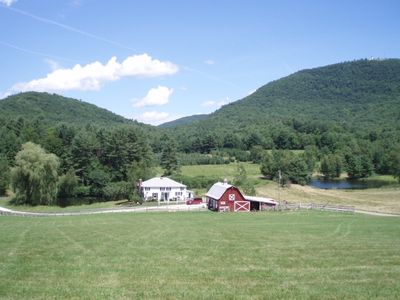 View of Hidden Valley Farm from the cabin.
