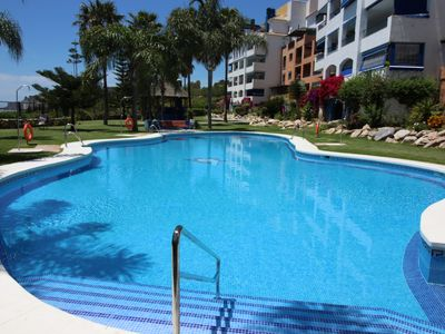 Photo for APARTMENT ON THE BEACH FRONT, WIFI, AIR COND. D