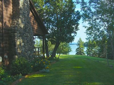 Photo for Private Oceanfront Log Cabin w/fireplace in Hancock/Acadia-4B/2B Sleeps 8-Pets!