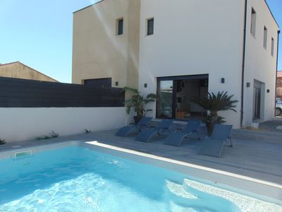 Photo for Air-conditioned villa for 6 people with swimming pool 4 km from Valletta beaches