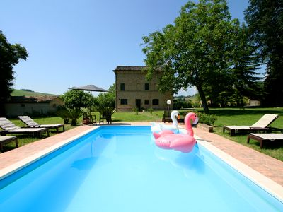 Photo for Contemporary chic country retreat  with private pool in Le Marche, Italy