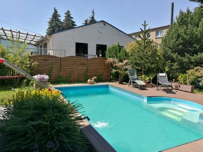 Photo for Modern apartment (up to 4 people) with great facilities, e.g. B. Pool, fireplace ...