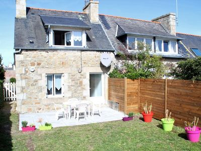 Photo for Breton small house 100m from the sea with garden in TREGASTEL