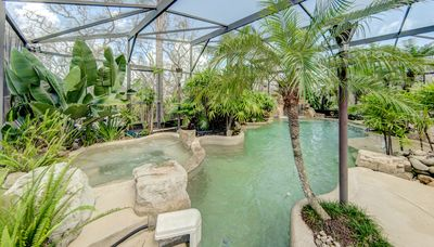 Oasis style pool with spa & waterfall