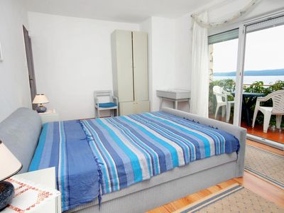 Photo for Two bedroom apartment with balcony and sea view Dramalj, Crikvenica (A-5519-a)