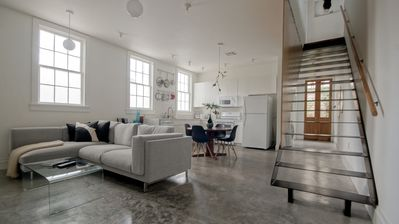 Photo for NEW 2 STORY DESIGNER ART LOFT NEXT TO FRENCH QUARTER & FRENCHMEN ST!