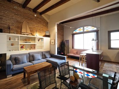 Photo for Apartment with private terrace in Gràcia for 6 pax with free Wi-Fi
