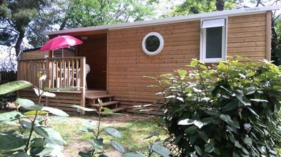 Photo for Camping Ecolodge Les Cigales *** - Comfort Wood Lodge 3 Rooms 5 People