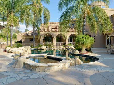 Photo for Incredible Private Estate! Pool, Tennis Court, Game Room, and more! Perfect Location!
