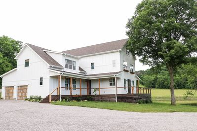 3 story, 4,500 sq ft house on 11 acres overlooking a pond