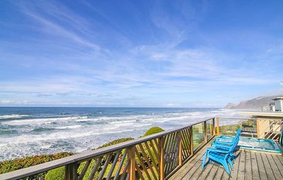 Photo for Oceanfront Home with Hot Tub. Just Steps to the Beach!