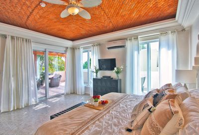 Master Suite with King Bed, TV, Safe, En Suite Bathroom and Terrace Access