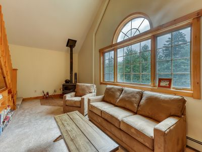 Photo for Comfy lodge style apartment w/ a loft, free WiFi, and full sized kitchen!