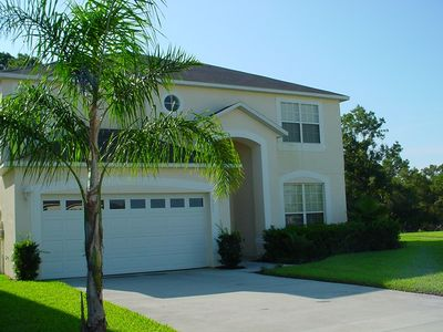 Photo for WOW ! 7 BED LAKE FRONT VILLA  POOL/SPA GAME RM KING PILLOWTOP BEDS LOW RATES