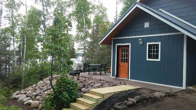 Photo for Charming Lakefront Cottage! Kayaks&Firepit! Good for ice fishing & snowmobilers!