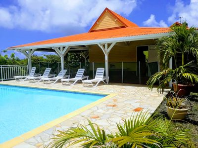 Photo for Creole villa with pool and views of the magnificent François islets