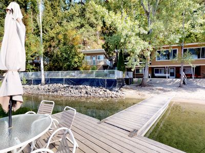 Photo for Charming, dog-friendly, waterfront home w/ sandy beach & private dock