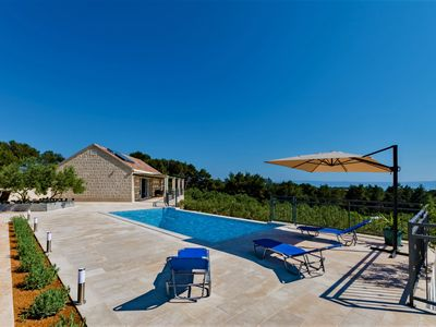 Photo for Beautiful view of the sea. Quiet location, complete privacy, pool