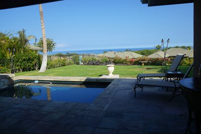 Relax by the pool while watching for whales or enjoying a drink or book.