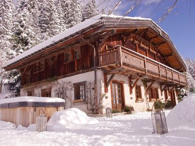 Photo for A Chalet in Megeve 5 stars with spa and helipad