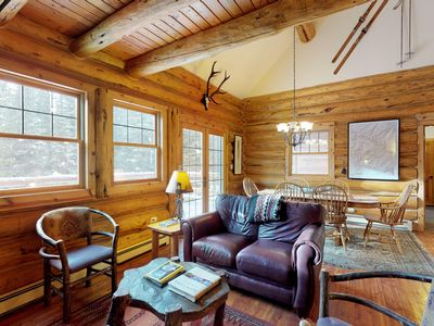 Photo for Comfortable ski home with a private hot tub, 2 miles to skiing!
