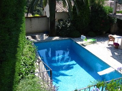 Photo for Nice studio flat with private pool located in Vence