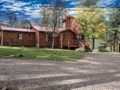 Photo for When you think of a cabin in the woods,this Beautiful Log Cabin comes to mind