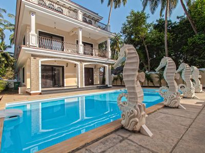Photo for 9BHK Private Swimming Pool Villa with Kids pool, Seahorse Fountains and Playroom