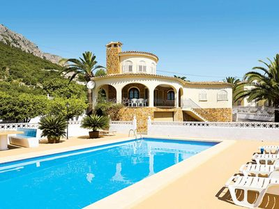 Photo for Traditional-style charming villa, views out to sea,  set among citrus groves, sandy beach within 5 minutes' drive