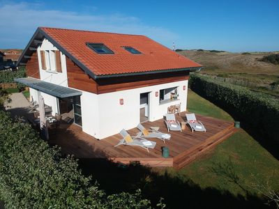 Photo for Modern beach house - 150 m from the Atlantic surf - views on the dunes