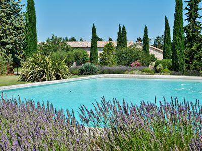Photo for Holidays in the heart of Provence in a 17th century farmhouse, huge pool and park