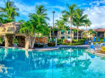 Photo for *Second Floor Accommodations with Resort Pool and Waterfall Views in Naples Bay*