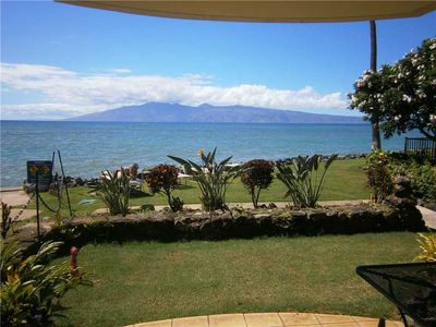 Photo for Completely remodeled Ocean Front 1bd condo in Kahana, Maui. Kahana Reef # 101