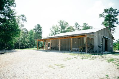 The Bunkhouse is an apartment inside this 2400 sq ft barn.