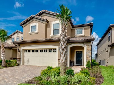 Photo for Luxury NEW 6 Bed Villa with Saltwater Pool/Spa, Game Room & Resort Clubhouse - Minutes to Disney